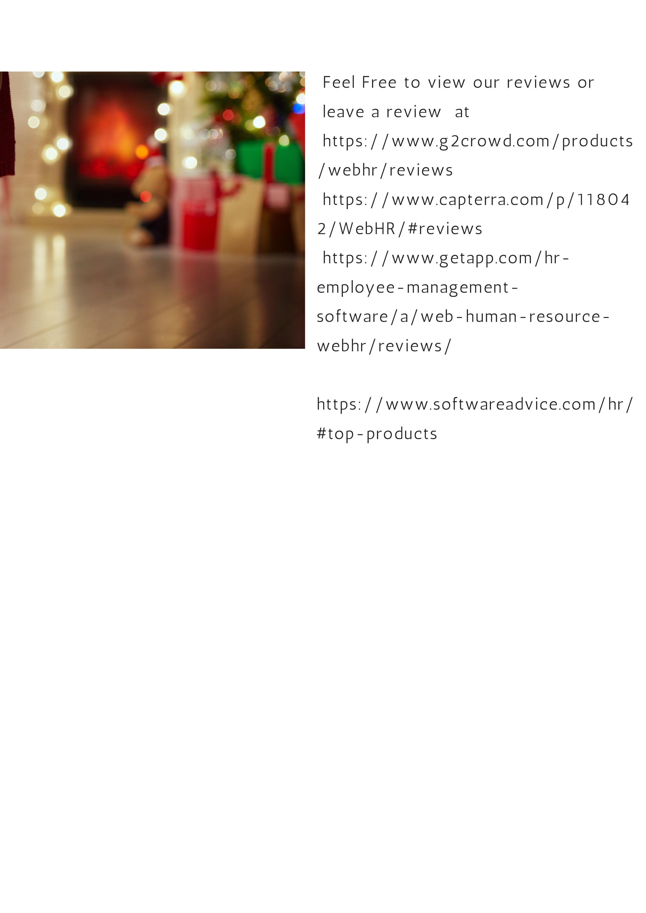 Webhr online hr software holiday greetings kristyandbryce Gallery